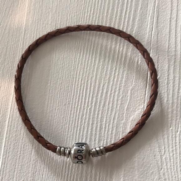 Pandora Jewelry - Pandora brown leather bracelet large